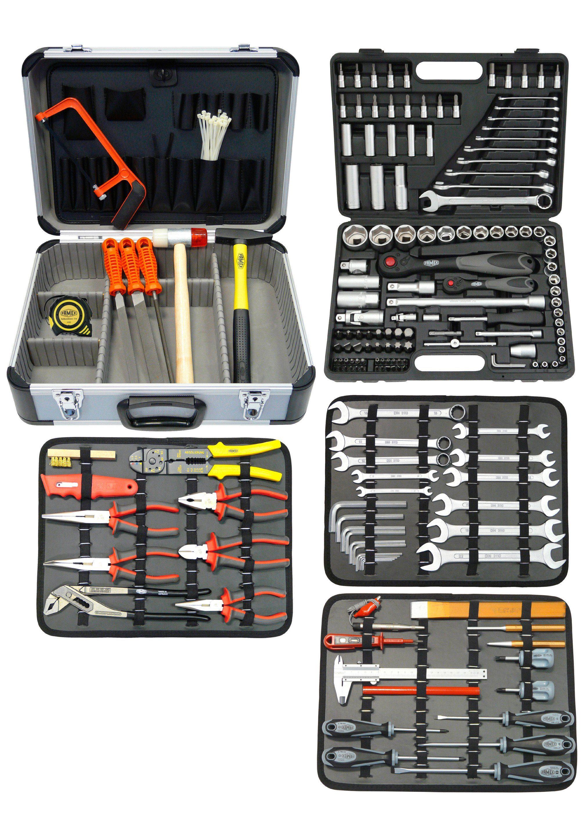 Werkzeugkoffer »Mechaniker Werkzeugkoffer Komplettset 174-/214-tlg.«