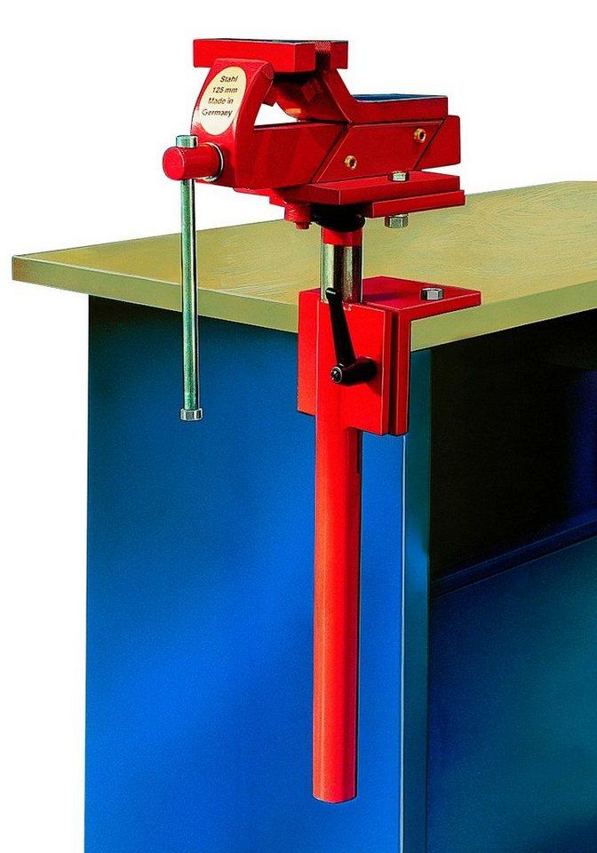 Schraubstock »125 mm, höhenverstellbar« in rot