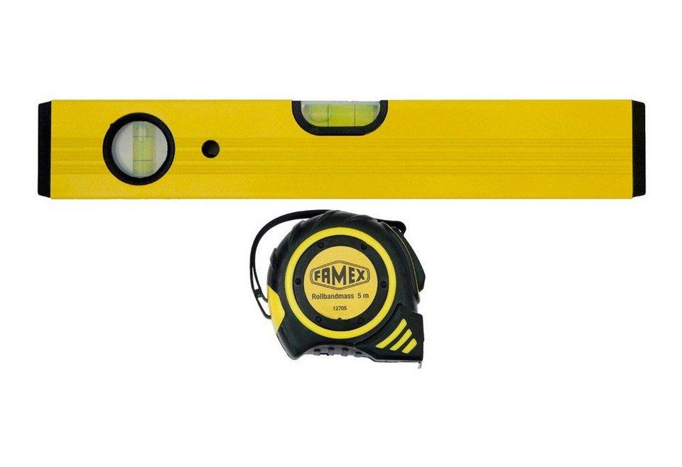 Wasserwaage »Set Wasserwaage + 5m Rollbandmaß« in gelb