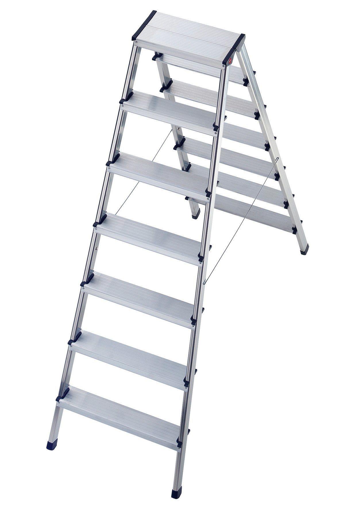 Hailo Trittleiter »Alu-Doppelstufenleiter L90« | Baumarkt > Leitern und Treppen > Trittleiter | Hailo