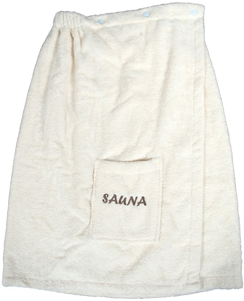 Sarong, Dyckhoff, »Opal«, mit Sauna-Schriftzug in natur