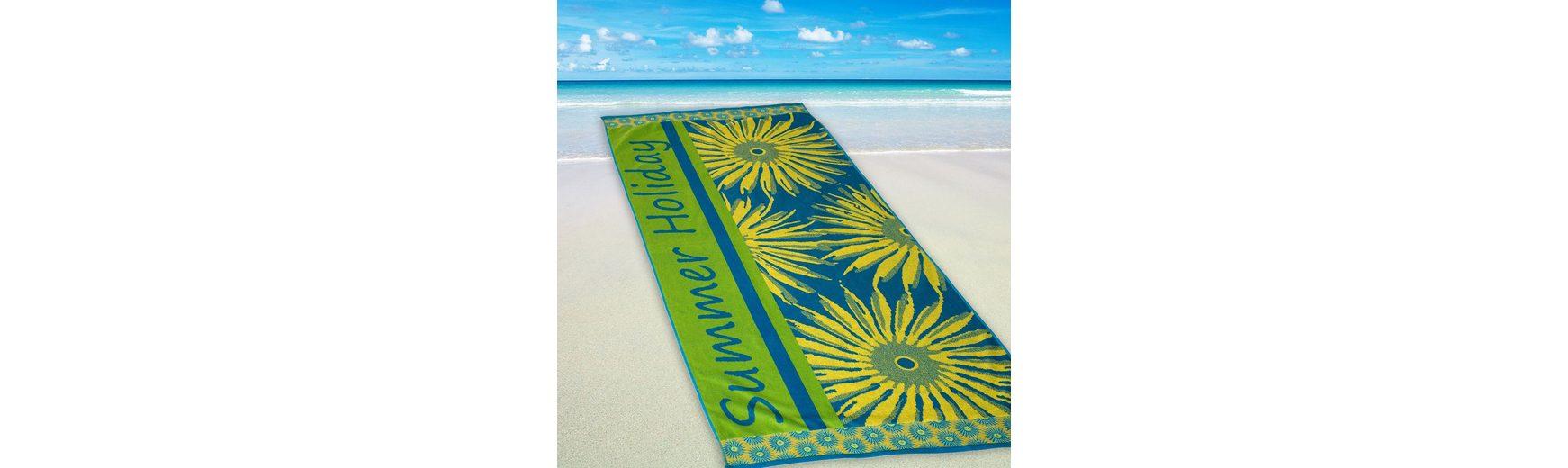 Strandtuch, Dyckhoff, »Summer Holiday«, mit Sonnenmotiven
