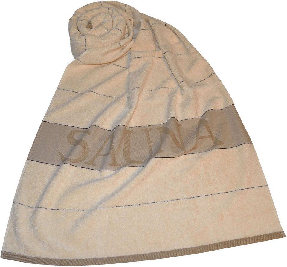 Saunatuch, Dyckhoff, »Sauna Gestreift«, mit Streifen in beige
