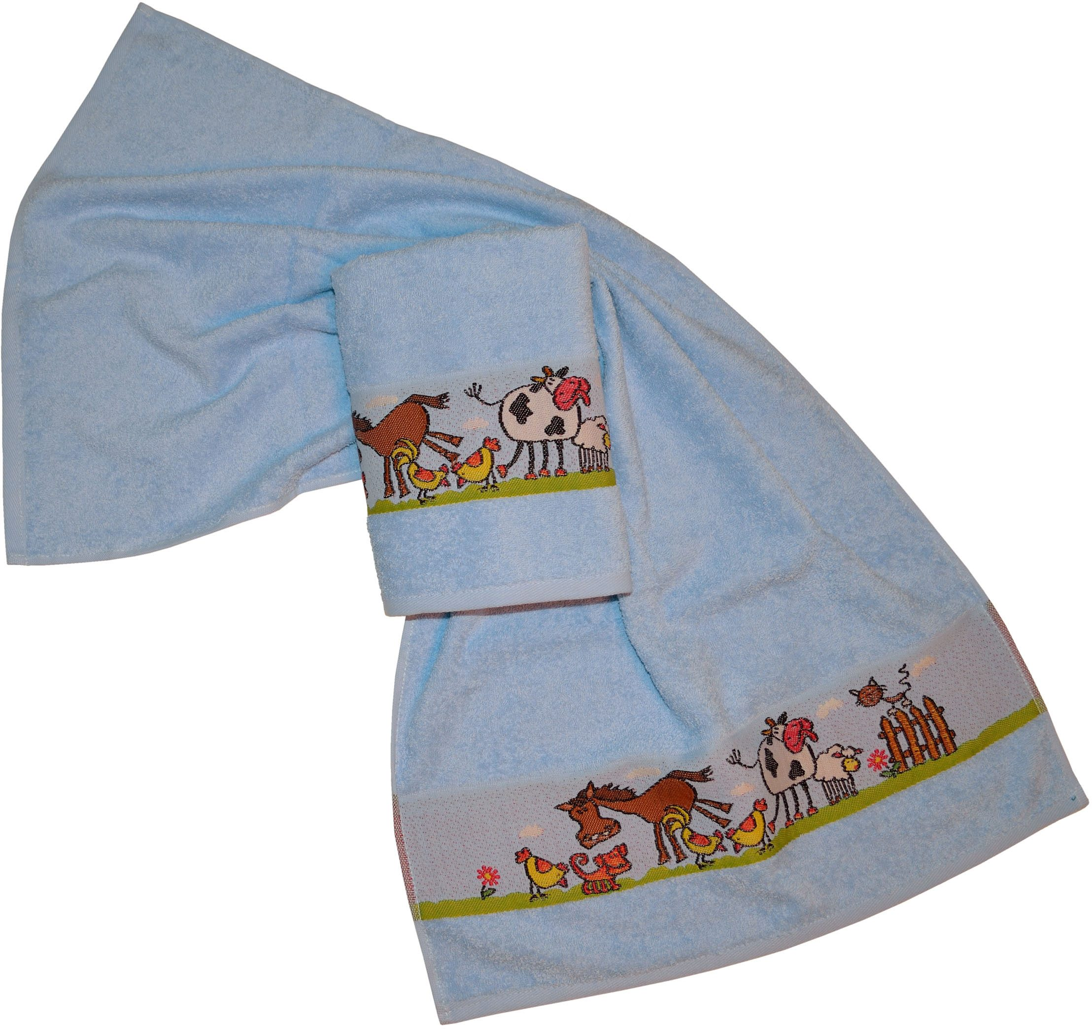 Handtücher, Dyckhoff, »Pferd«, mit Bauernhof Tieren