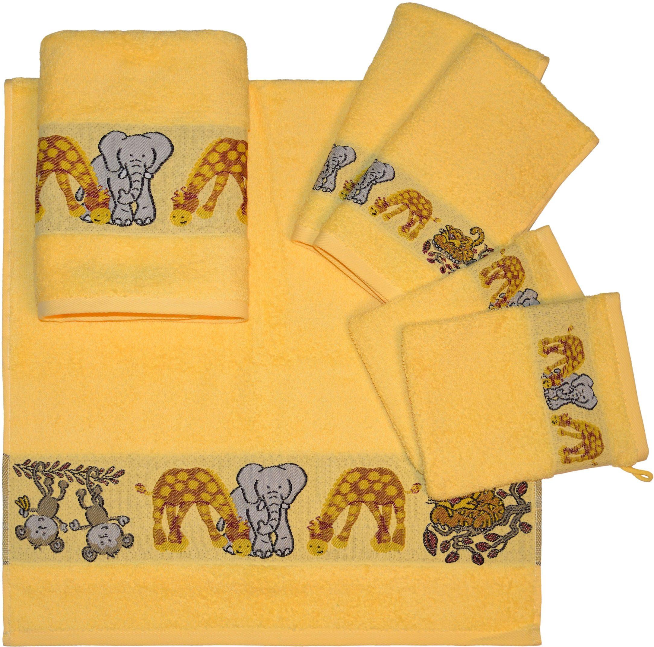 Handtuch Set, Dyckhoff, »Affe«, mit Tierbordüre