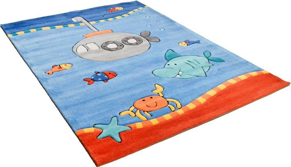 Kinder-Teppich, Arte Espina, »Sam 5«, handgearbeitet in blau