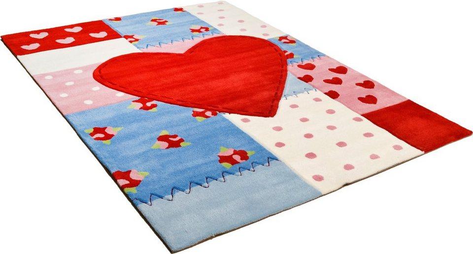Kinder-Teppich, Arte Espina, »Sam 4«, handgearbeitet in rot multi