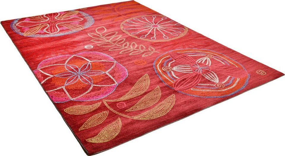 Teppich, Arte Espina, »Mood 2«, handgetuftet in rot multi