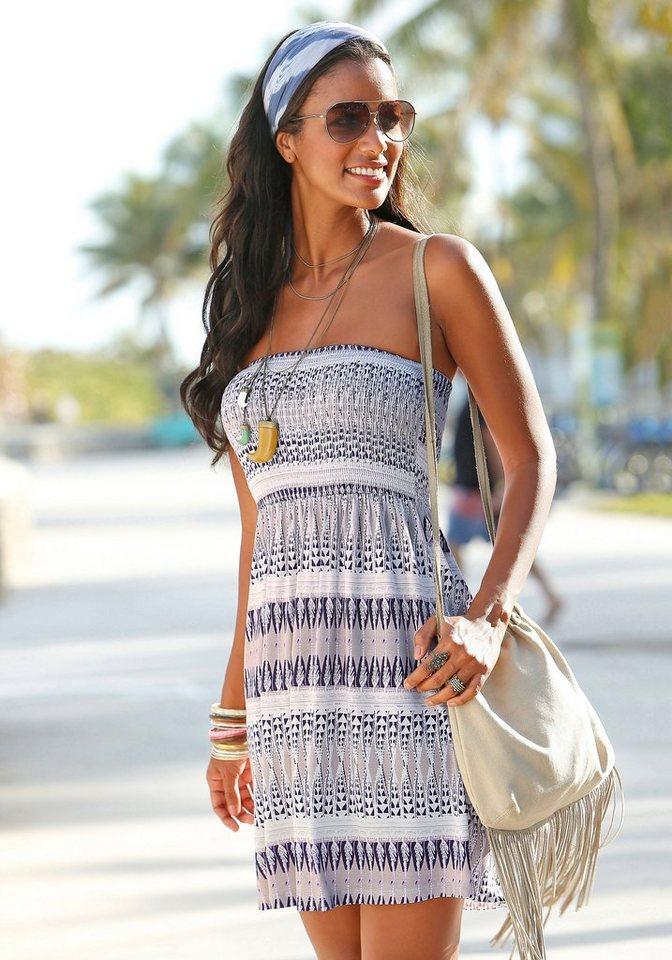 LASCANA Bandeau-Strandkleid in bedruckt