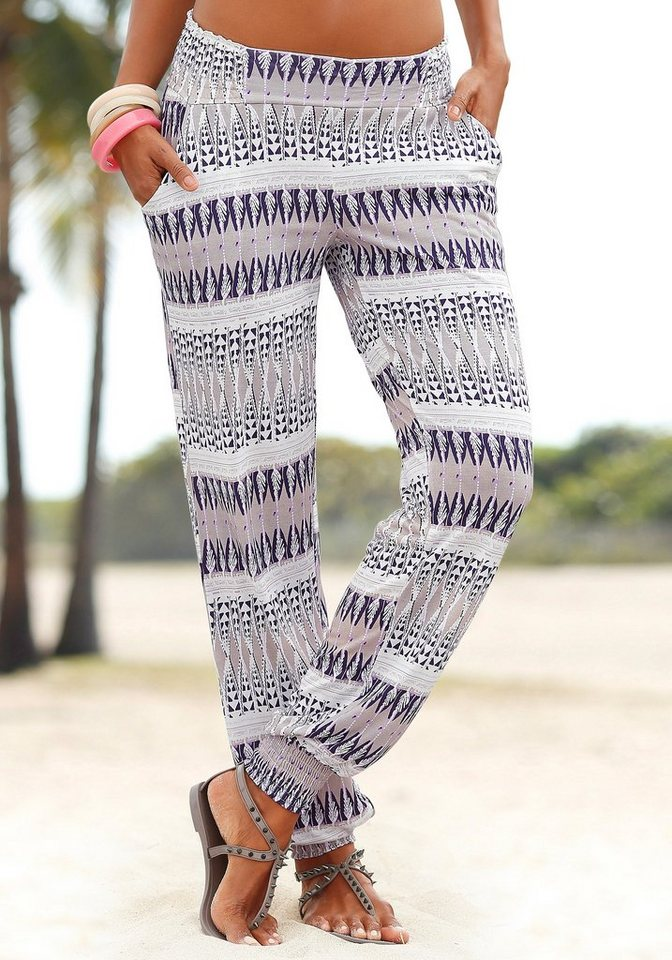 LASCANA Strandhose in sand-lila