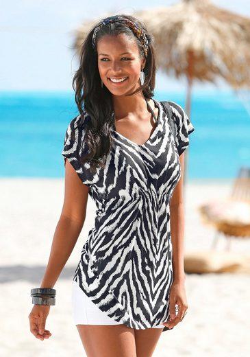 Lascana Lascana Mit Strandshirt Strandshirt Animalprint qUZTd0w