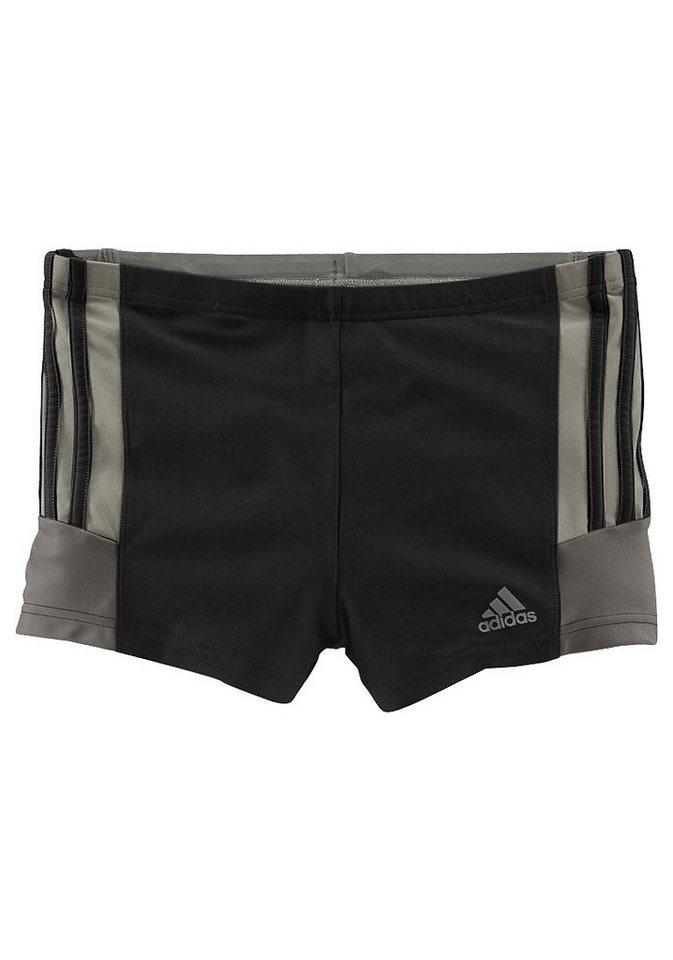 Boxer-Badehose, adidas Performance in schwarz-grau