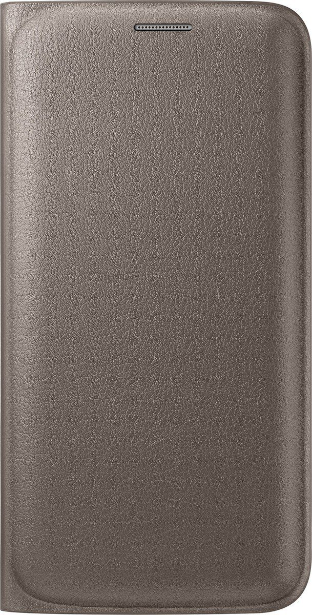 Samsung Handytasche »Flip Wallet PU EF-WG925 für S6 Edge, Gold«