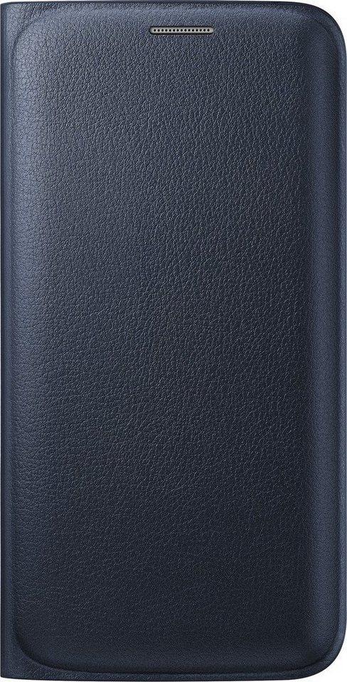 Samsung Handytasche »Flip Wallet PU EF-WG925 für S6 Edge, Schwarz« in Schwarz