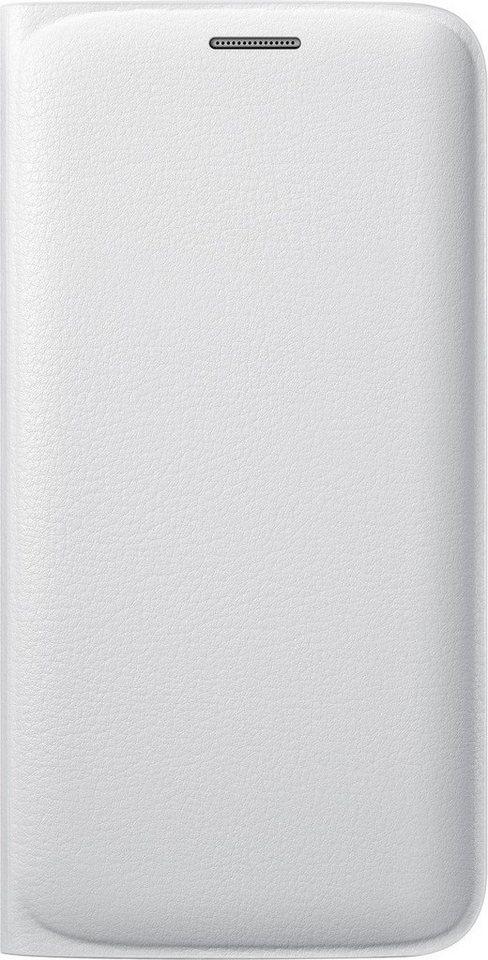 Samsung Handytasche »Flip Wallet PU EF-WG925 für S6 Edge, Weiß« in Weiß