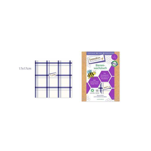 beeskin Gemüsebeutel »Bienenwachstuch Größe S Kitchen Towel, 17 x 17 cm«, Baumwolle, (1-tlg), wiederverwendbar
