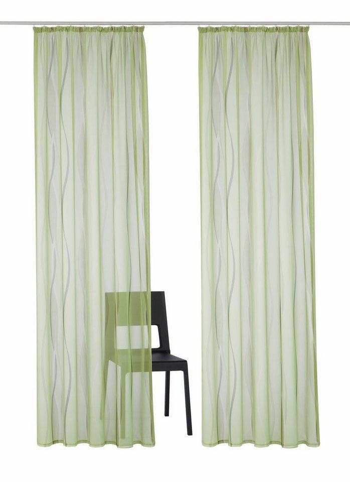 Gardine, my home, »Dimona«, mit Kräuselband (2 Stück) in grün