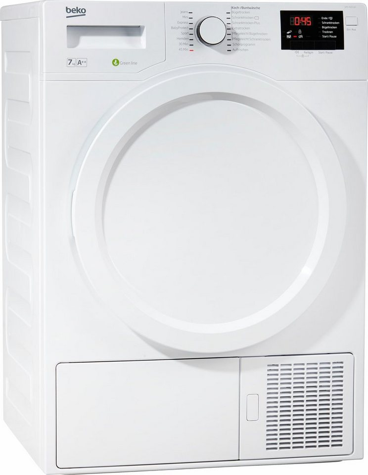 BEKO Trockner DPS 7405 W3, A++, 7 kg in weiß