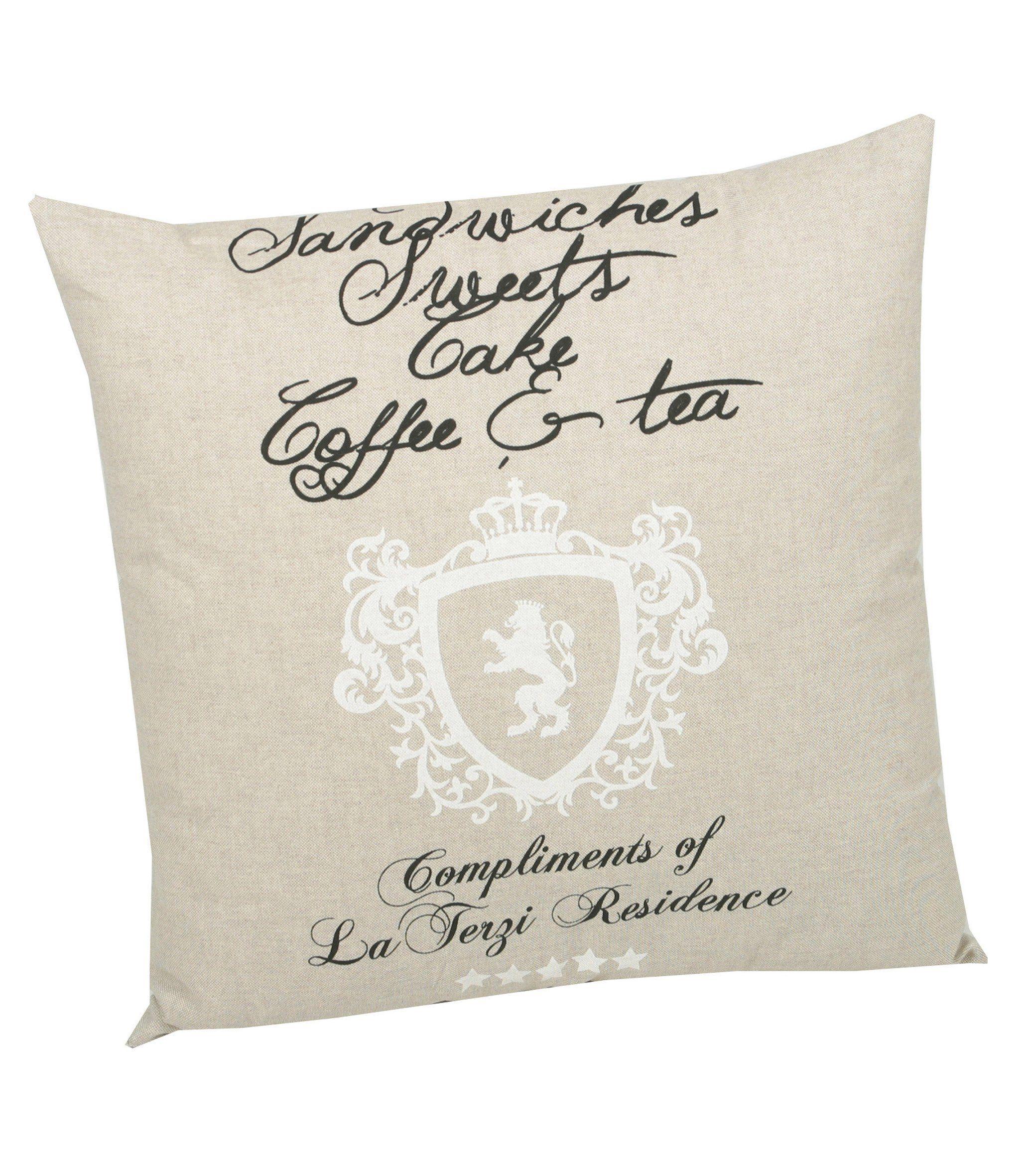 Go-De Zierkissen »High Tea«, (L/B): ca. 50x50 cm