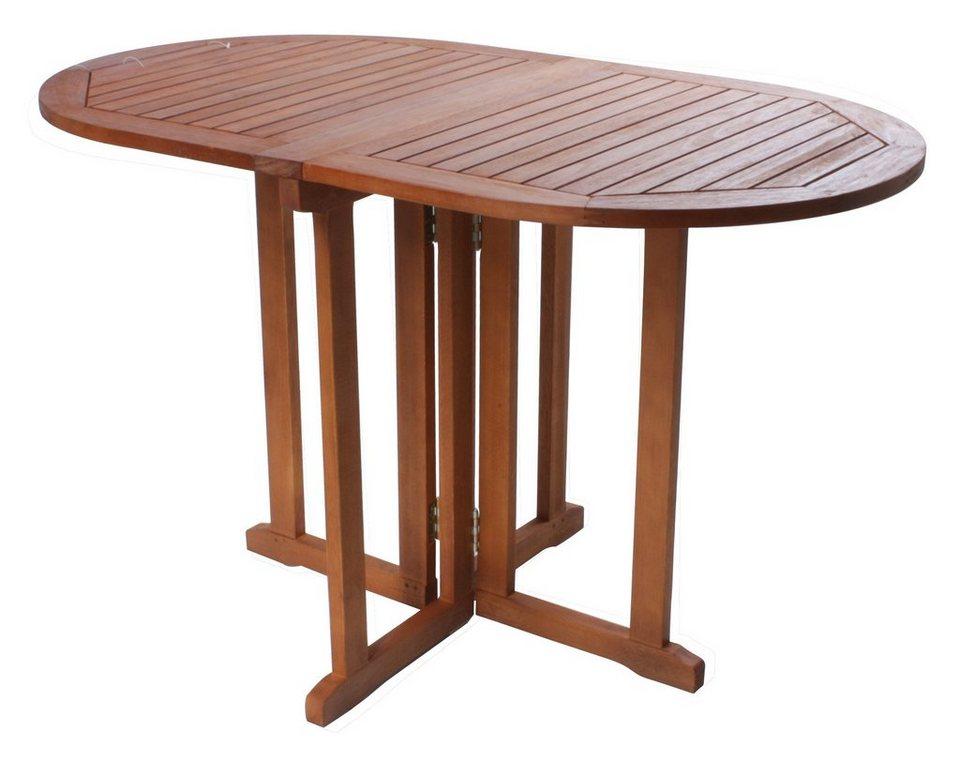 gartentisch baltimore eukalyptusholz klappbar 120x70 cm braun online kaufen otto. Black Bedroom Furniture Sets. Home Design Ideas