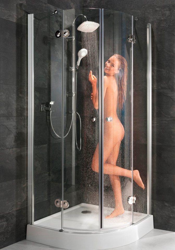 Runddusche »Relax Special«, 90cm x 90cm in alufarben