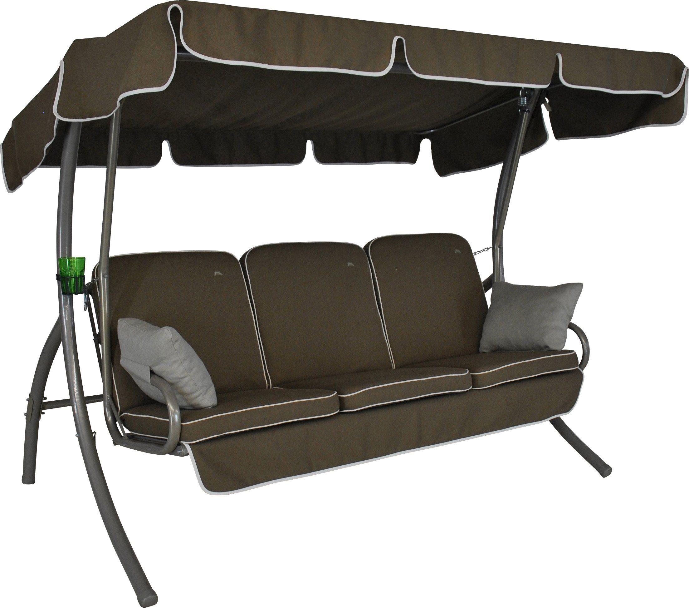 ANGERER FREIZEITMÖBEL Hollywoodschaukel »Comfort Style«, 3-Sitzer, braun