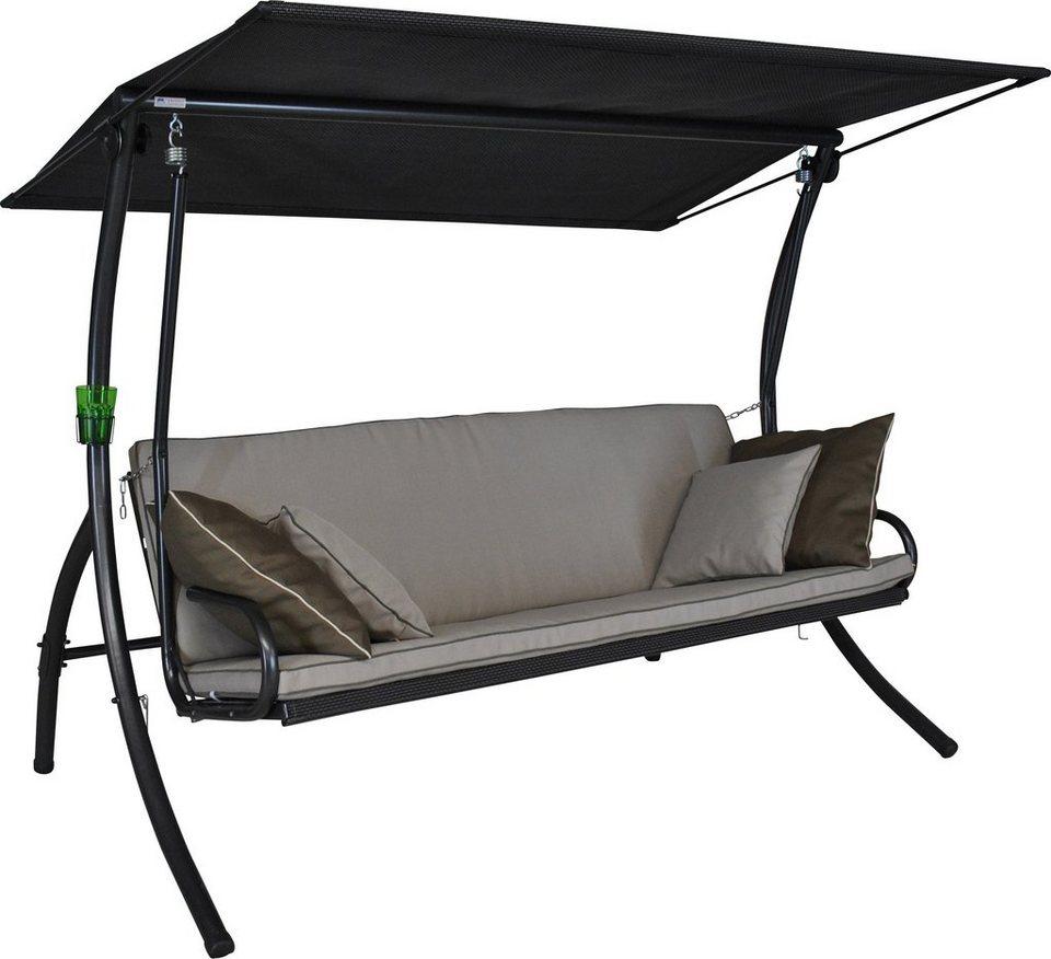 angerer freizeitm bel hollywoodschaukel elegance style 3 sitzer beige online kaufen otto. Black Bedroom Furniture Sets. Home Design Ideas