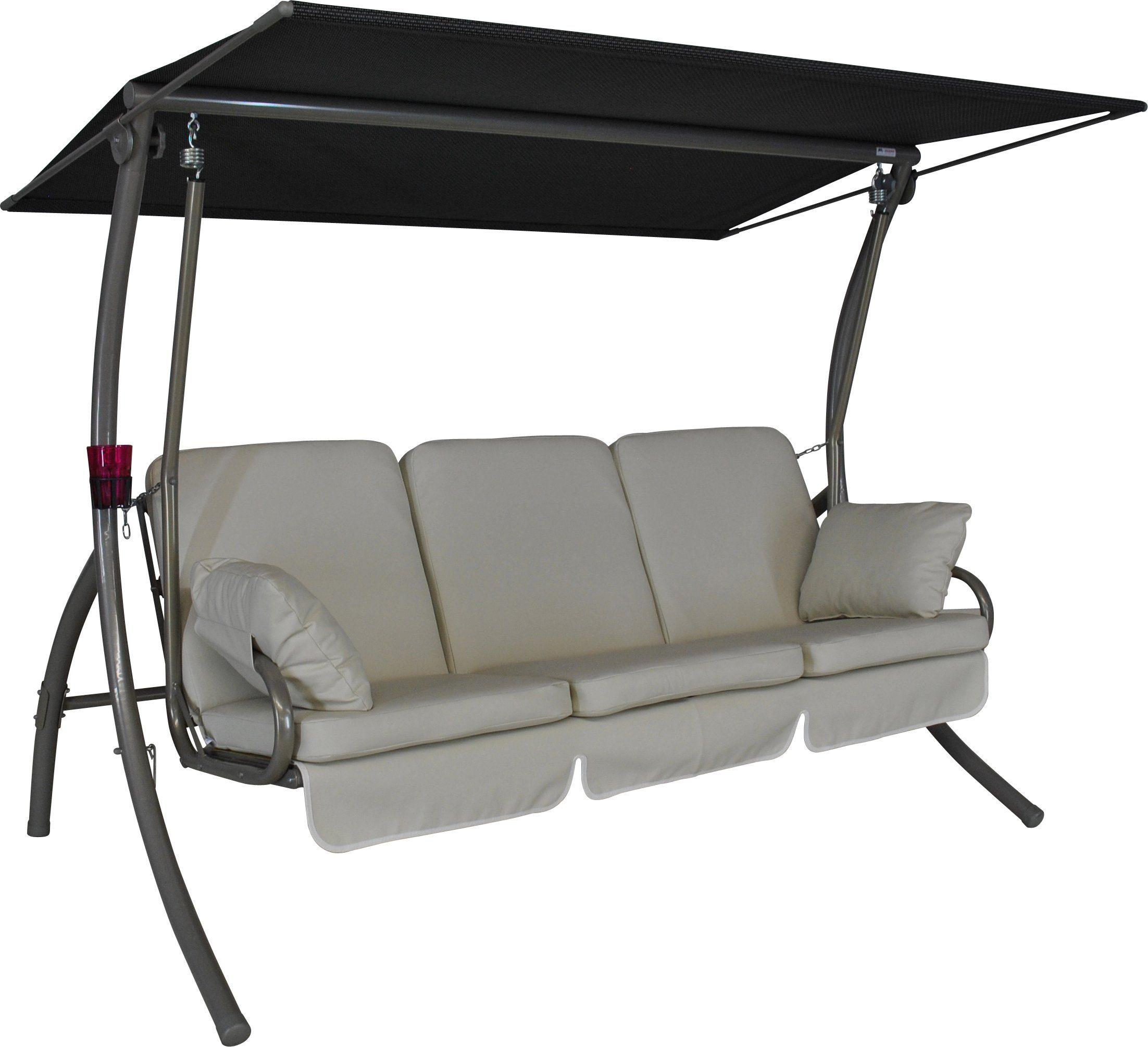 ANGERER FREIZEITMÖBEL Hollywoodschaukel »Primero Premium«, 3-Sitzer, creme
