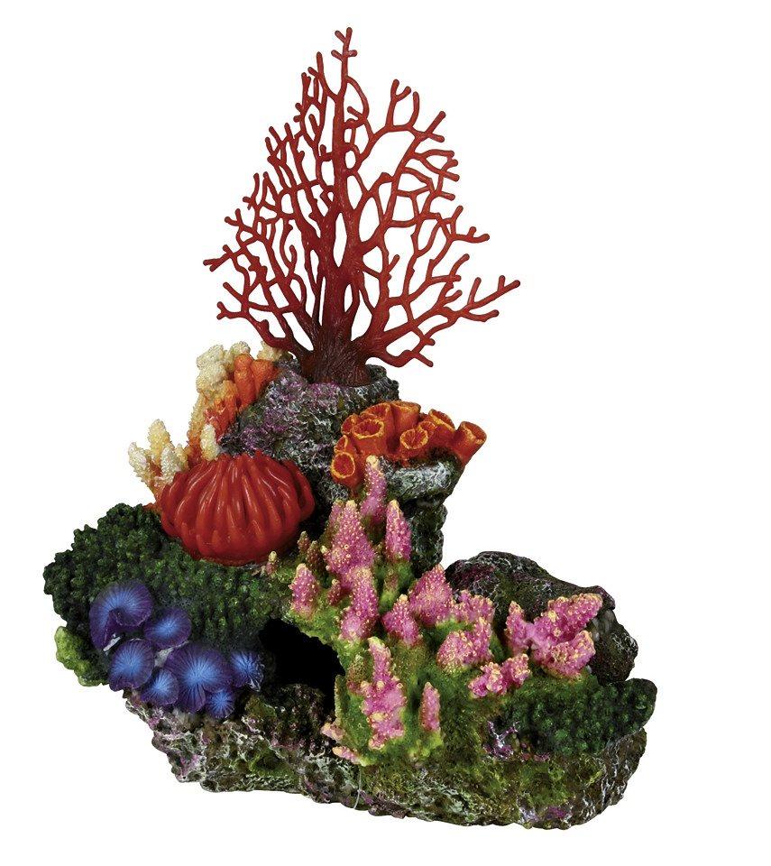 Aquariendeko »Korallenriff mit Ausströmer« in bunt