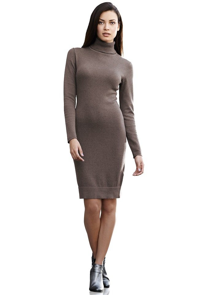 Kleid in taupe