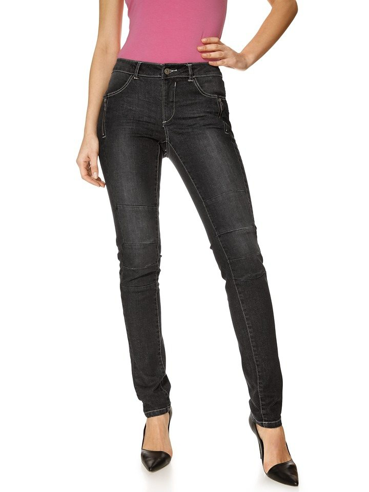 Push-Up-Jeans in black stone
