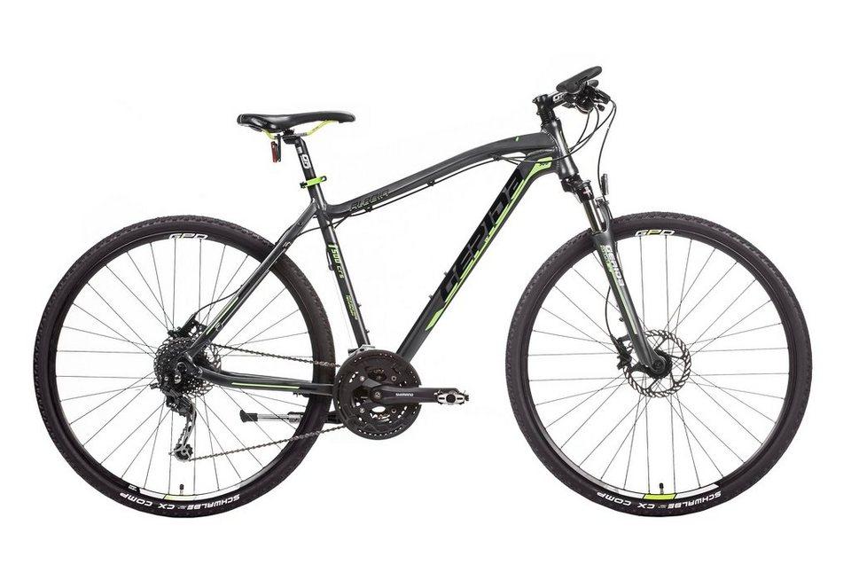 Hardtail Crossbike Herren, 28 Zoll, 27 Gang Shimano Deore, »Alboin 500 CRS«, Gepida in graphit-grün