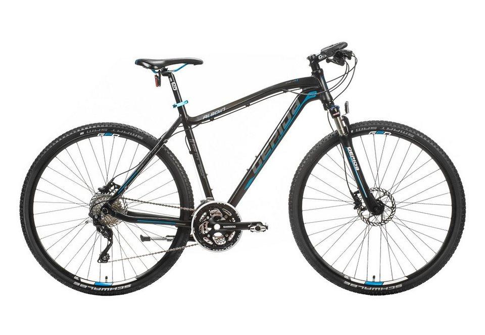 Hardtail Crossbike Herren, 28 Zoll, 30 Gang Shimano XT, »Alboin 900 CRS«, Gepida in schwarz-blau