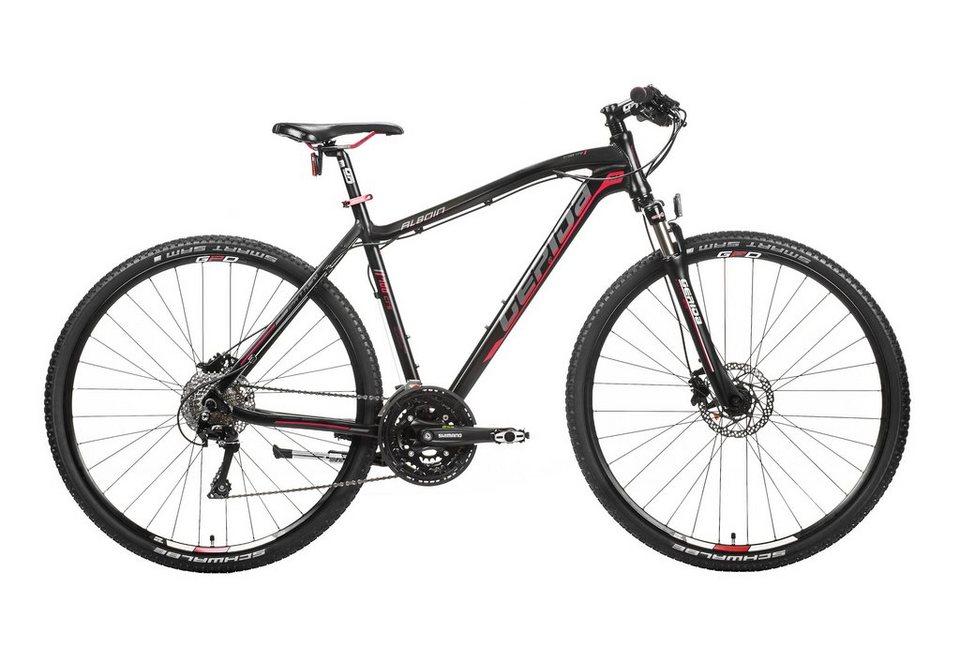 Hardtail Crossbike Herren, 28 Zoll, 30 Gang Shimano LX, »Alboin 700 CRS«, Gepida in schwarz-rot