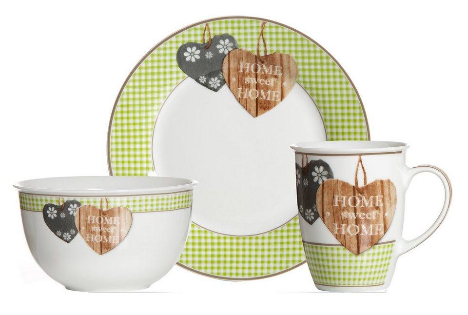 Frühstück-Set, Ritzenhoff & Breker (3tlg.) in grün