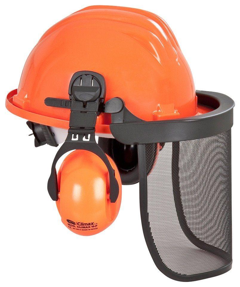 Sicherheitshelm in orange