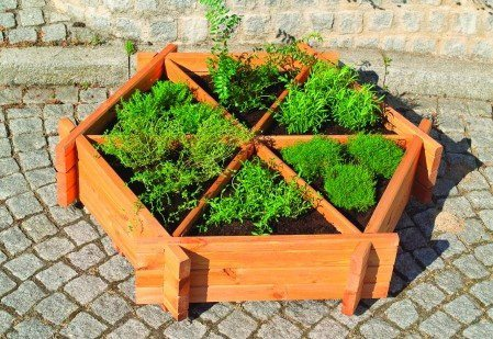 Promadino Pflanzkasten »Kräuterrad« in 2 Größen   Garten > Pflanzen > Pflanzkästen   promadino