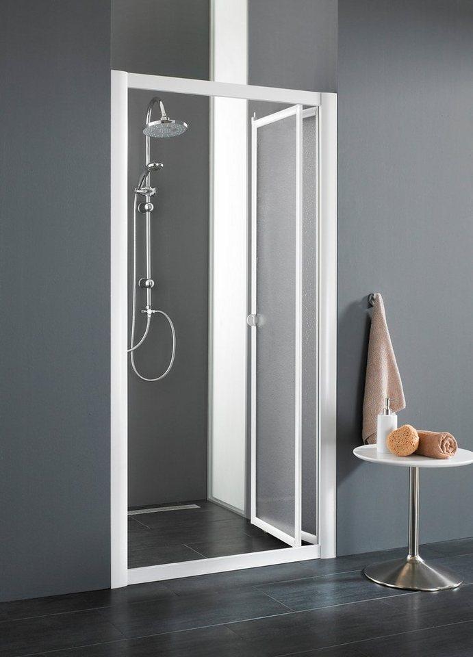 Nischentür »Domino«, Duschtür mit Verstellbereich von 102-106 cm in weiß