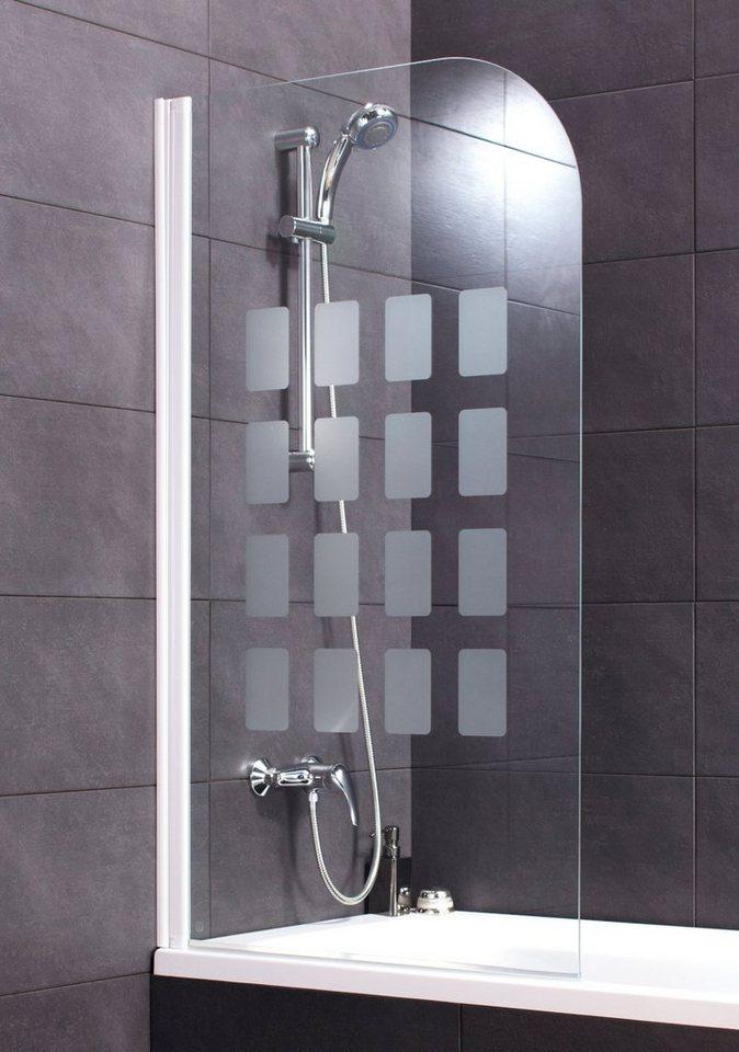 Badewannenaufsatz »Cubic« in weiß