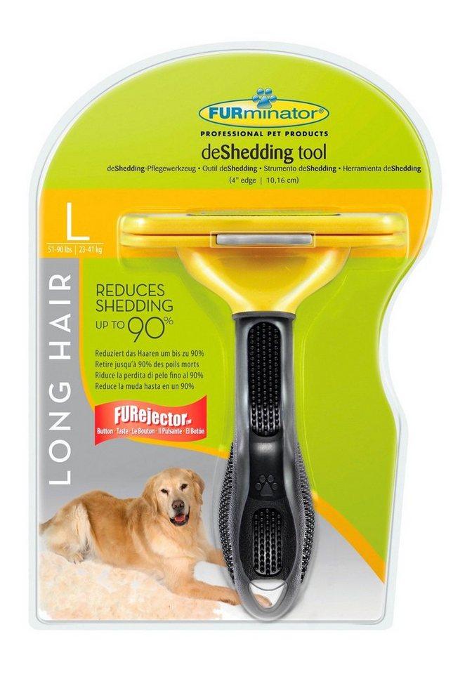 Hundepflegebürste »FURminator - deShedding Long Hair L« in gelb