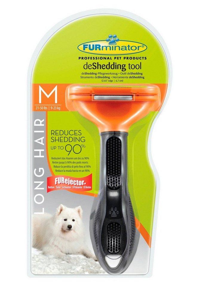 Hundepflegebürste »FURminator - deShedding Long Hair M« in orange