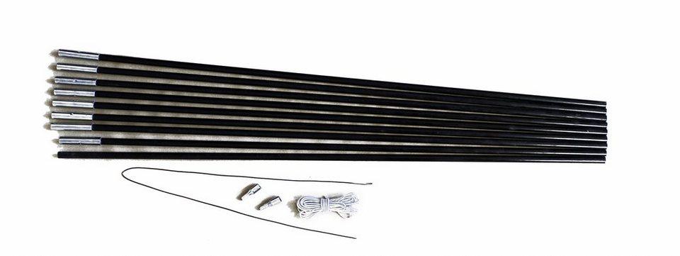 Relags Zelt »Fiberglasstange 7,75m x 11mm 9 Segmente« in schwarz