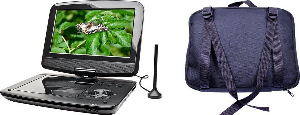 Dual DVD-P 9 tragbarer DVD-Player & DVB-T Fernseher in schwarz