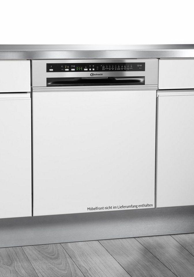 Bauknecht integrierbarer Einbaugeschirrspüler GSI 102414 A+++ IN, 10 Liter, 13 Maßgedecke in edelstahl