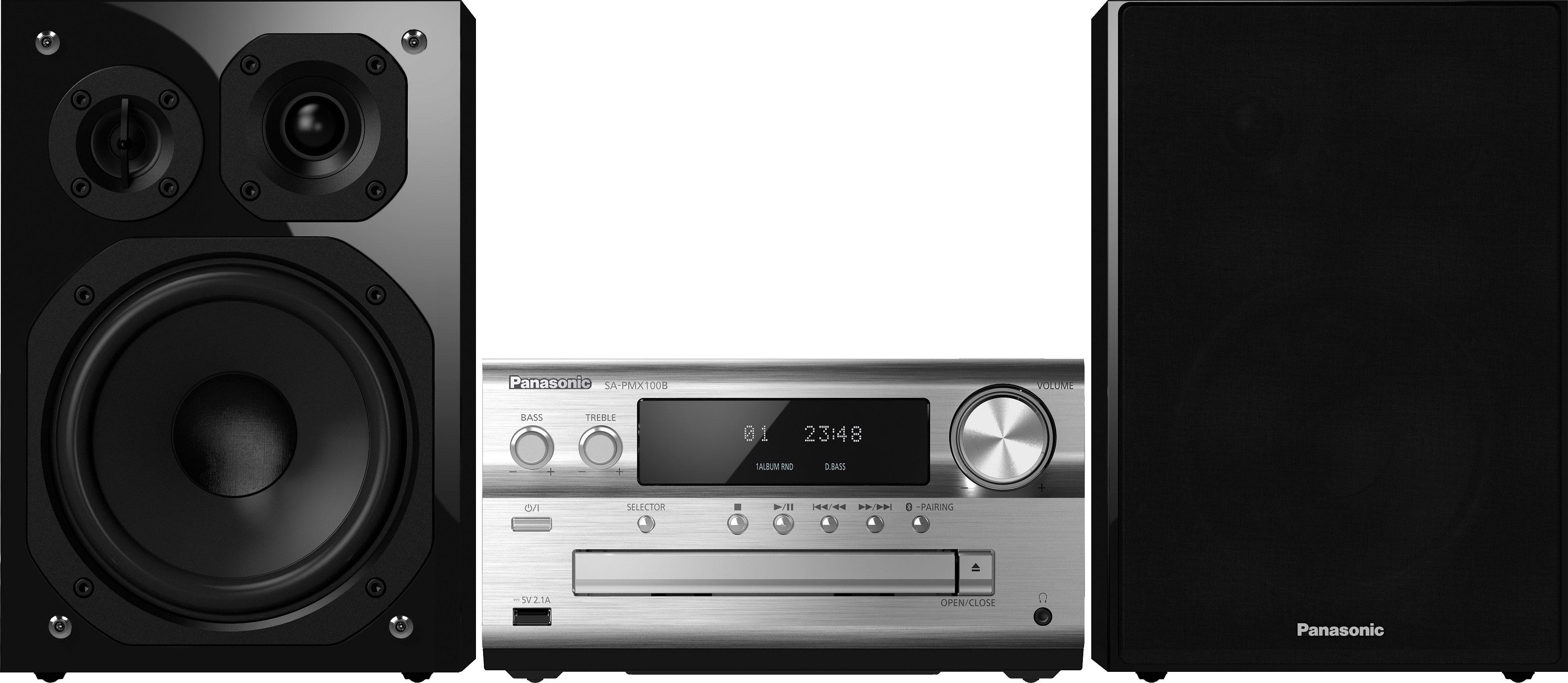 Panasonic SC-PMX100BEG Kompaktanlage, Spotify/Napster/Panasonic Music Streaming App, Airplay