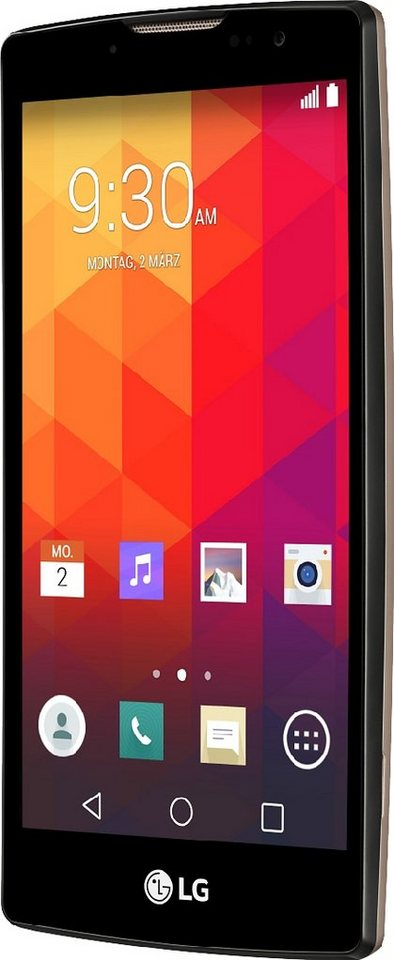LG Spirit Smartphone, 11,9 cm (4,7 Zoll) Display, LTE (4G), Android 5.0, 8,0 Megapixel, NFC in goldfarben