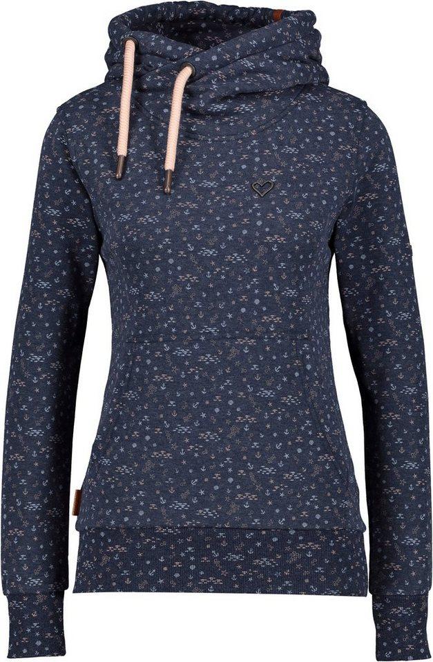 alife & kickin -  Sweater »SarahAK« modischer Hoodie mit Alloverprint