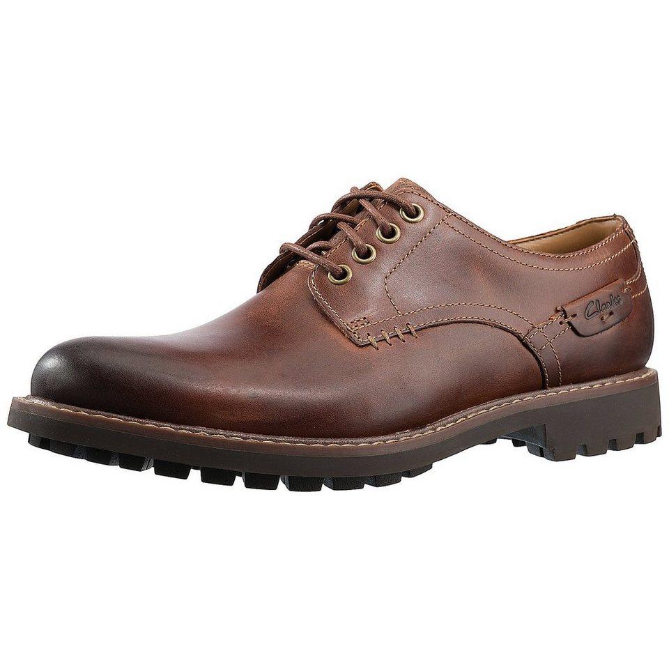 Clarks Montacute Hall Freizeit Schuhe in braun