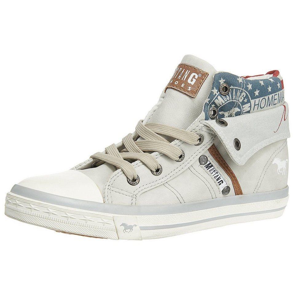 MUSTANG Sneakers in wollweiß