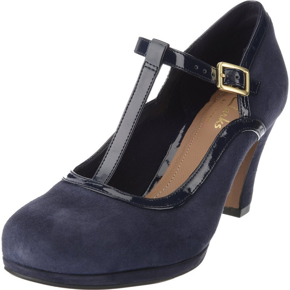 Clarks Chorus Tempo Pumps in navy